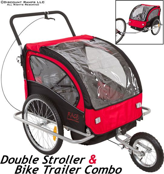 Double Stroller And Kids Bike Trailer Has Brake Bike Trailer