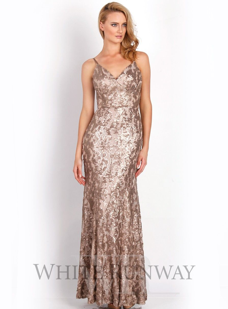 Monte Dress. An elegant full length gown by Jadore Evening. A high ...