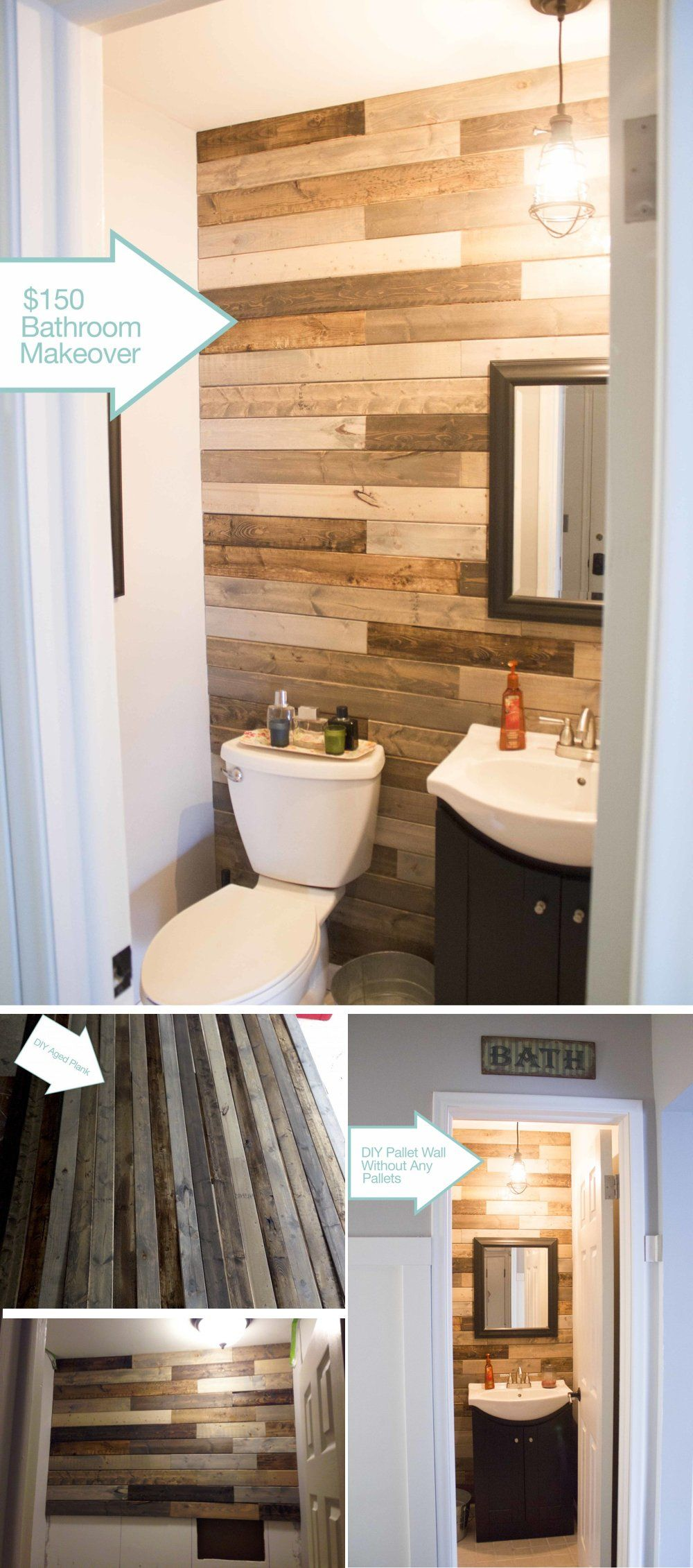 Panel bathroom accent wall