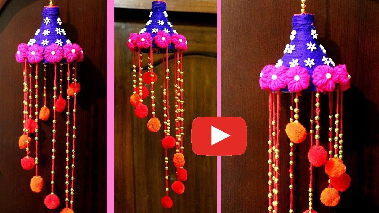 How To Make A Wind Chime With Waste Material Craft Ideas Using