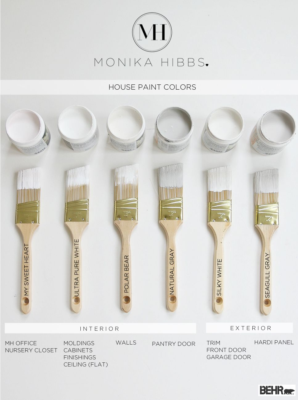 White And Gray Behr Paint Colors Http Monikahibbs Interior