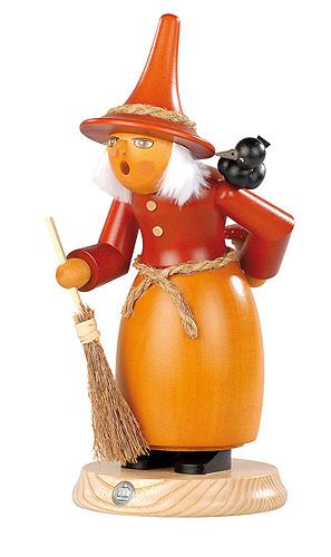Smoker Witch With Raven 25 Cm 10in By Müller Kleinkunst German Smoker Nutcracker Christmas Halloween Decorations Indoor
