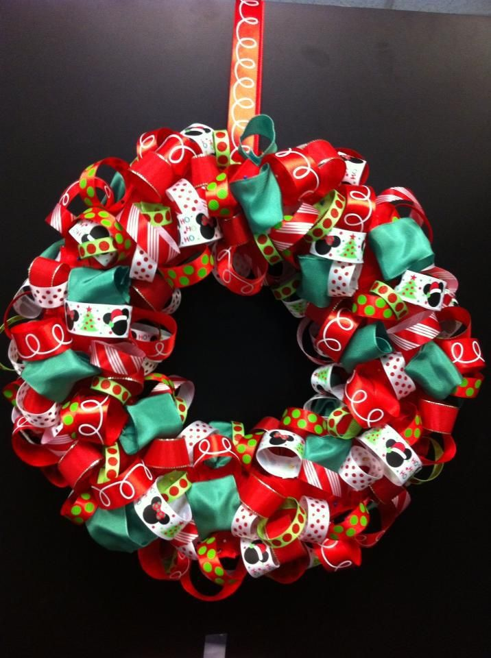 Mickey Mouse Ribbon Wreath