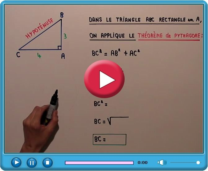 Pythagore appliquer le théorème de pythagore problème de maths
