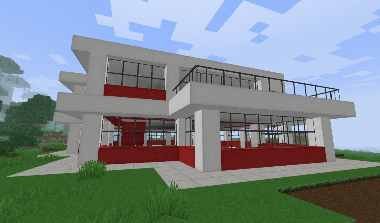 Simple minecraft house small simple modern house for Simple contemporary house
