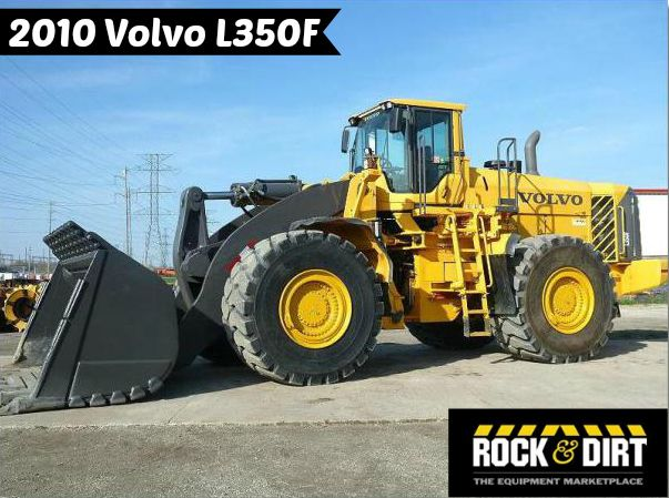 Our Featured Wheel Loader is a 2010 #Volvo L350F, 4,503 Hrs., Ready to Work, Volvo D16E LA E3 Tier 3 Engine, Approx. 112,000 Lbs. We have a great selection of Wheel Loaders! You can view them all at: http://www.rockanddirt.com/equipment-for-sale/wheel-loaders #RockandDirt #WheelLoaders #HeavyEquipment