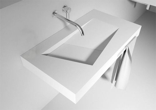 Solid Surface Wastafel : Solid surface solutions wastafel sanso zonder kraangat bathrooms