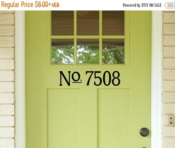 Custom door house numbers vinyl wall decals front porch home address wall decal quotes stickers decor dining room numbers decal