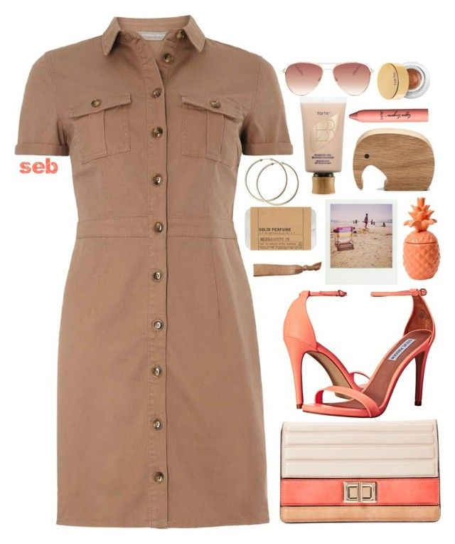 """""""It's A Shirtdress"""" by coombsie24 ❤ liked on Polyvore featuring mel, Melie Bianco, Steve Madden, Le Labo, tarte, Sephora Collection, Polaroid and Jessica Simpson"""