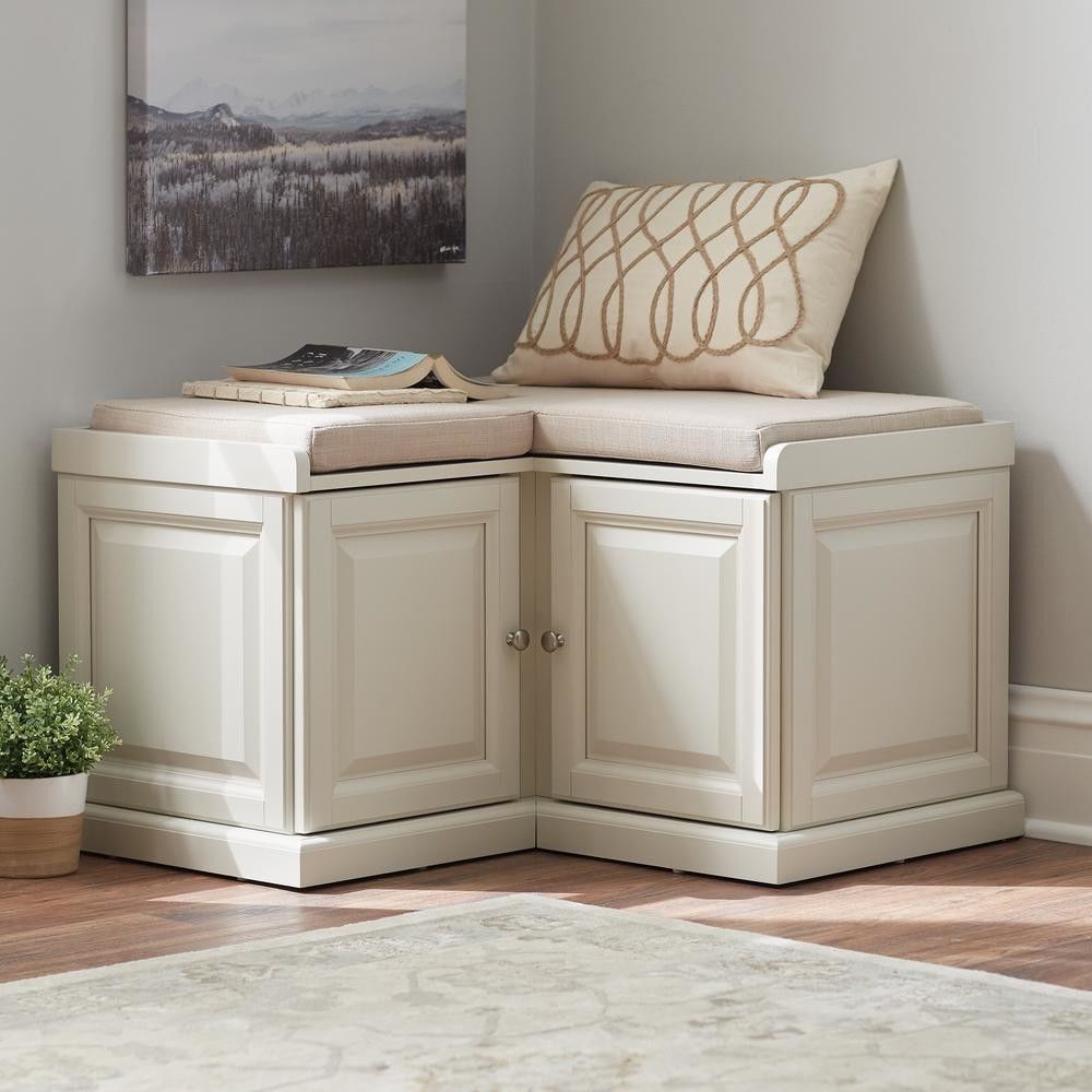 Corner Bench Small Space Seating White Storage Benches Cabinet L Shaped Cubby Homedecoratorscoll White Storage Bench Storage Bench Seating Bench With Storage