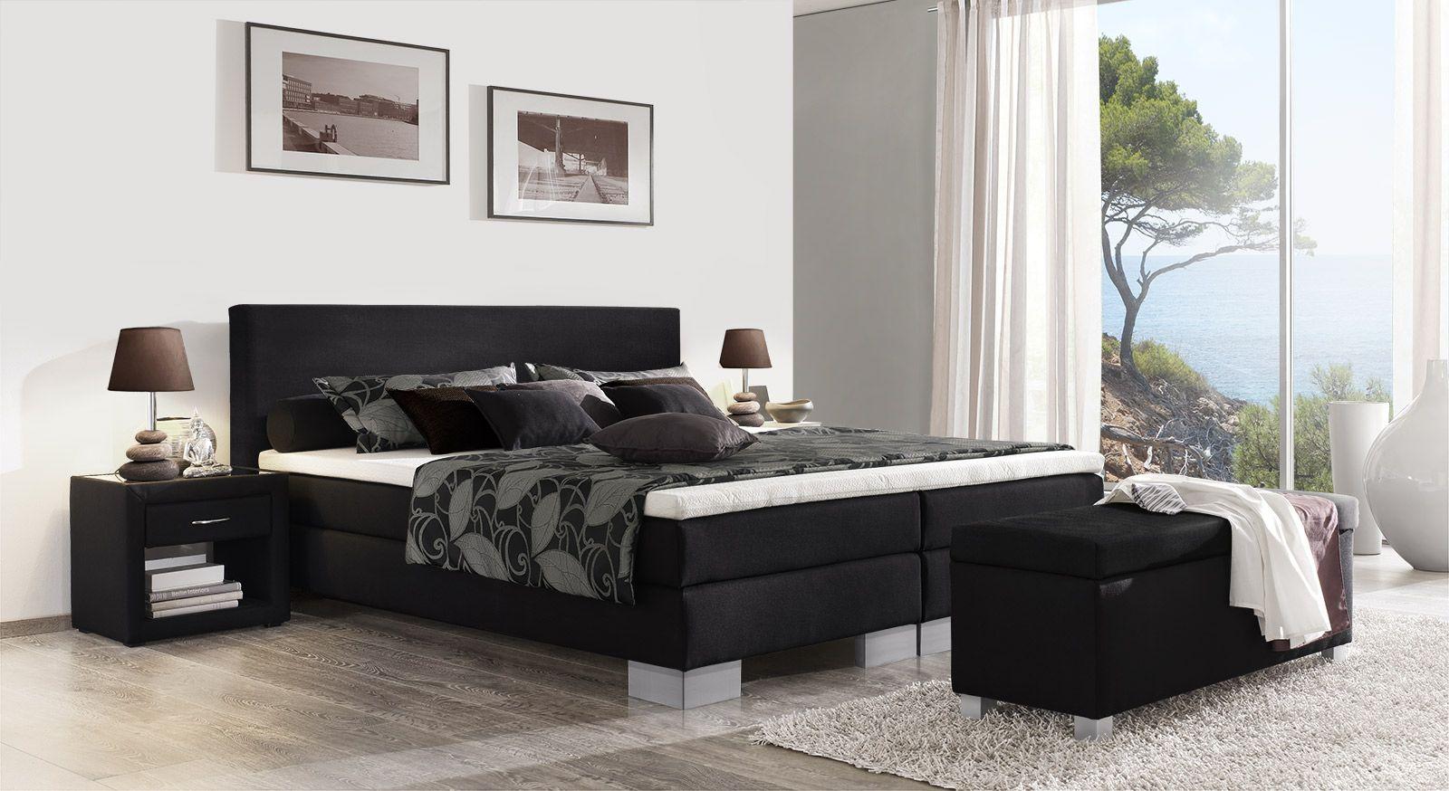 "boxspringbett schwarz 180x200, boxspringbett ""puebla"" | pinterest | master bedroom and bedrooms, Design ideen"