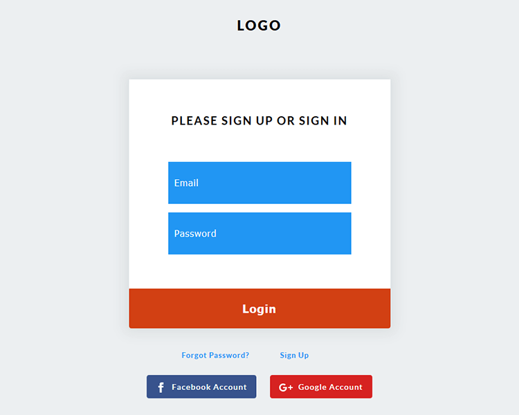 Free login form web page template designed using HTML5 & CSS3 ...