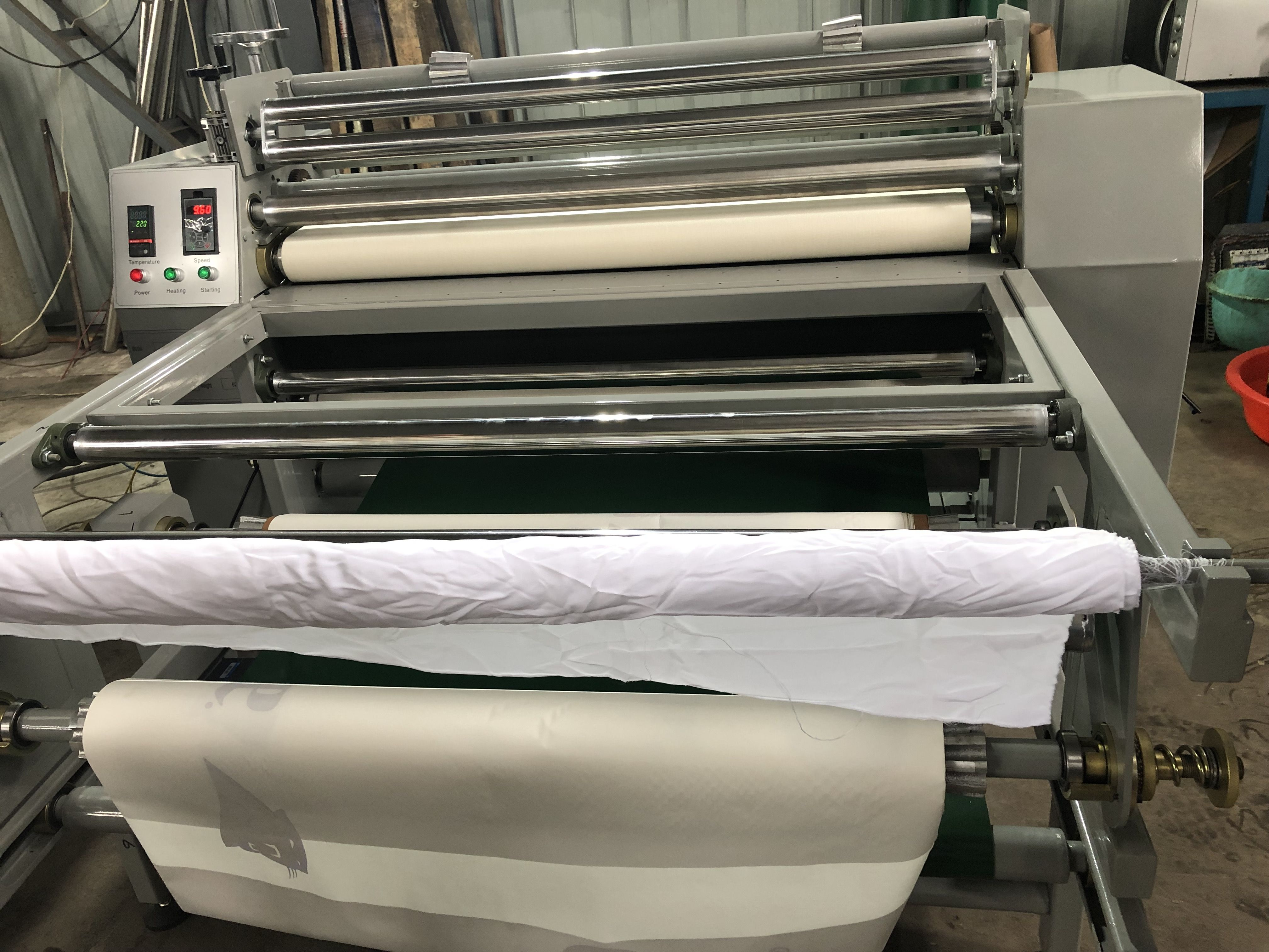200 1200mm Full Automatic Small Sized Roller Printing Machine Affordanle Price Application Home Textile Fashion Clothing Sportswear Etc More Info Pls Conta