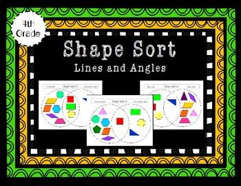 Lines and angles shape sort venn diagrams activities and students in this shape sorting activity students use a venn diagram to sort shapes based on ccuart Choice Image