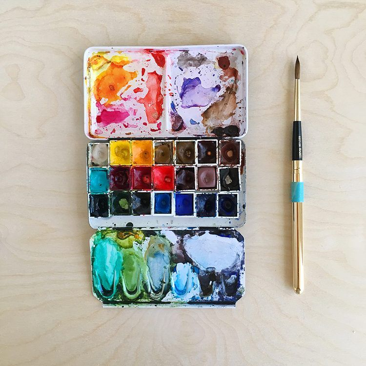 Organizing Watercolor Paint Colors And Tubes Watercolour