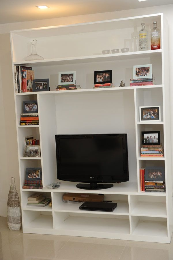 TV With Bookcase For Small Condo Living Room