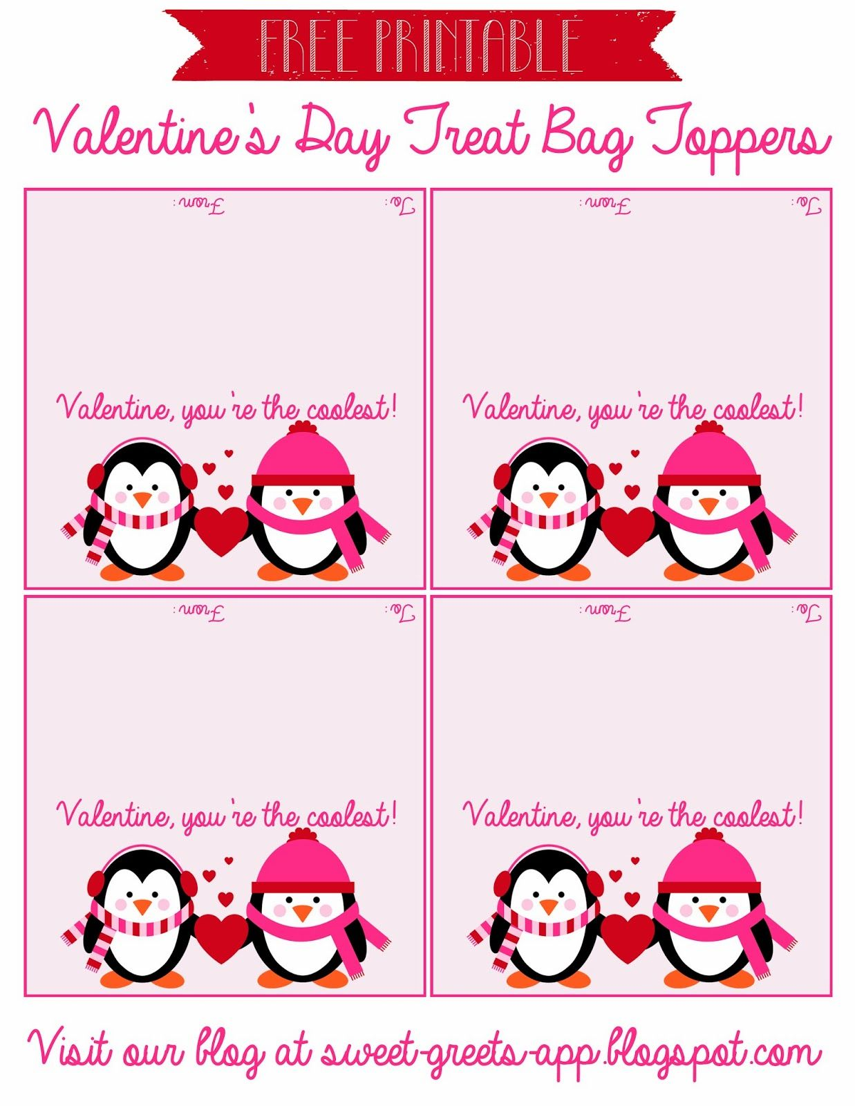 Just Peachy Designs Free Printable Valentine S Day Treat Bag Toppers