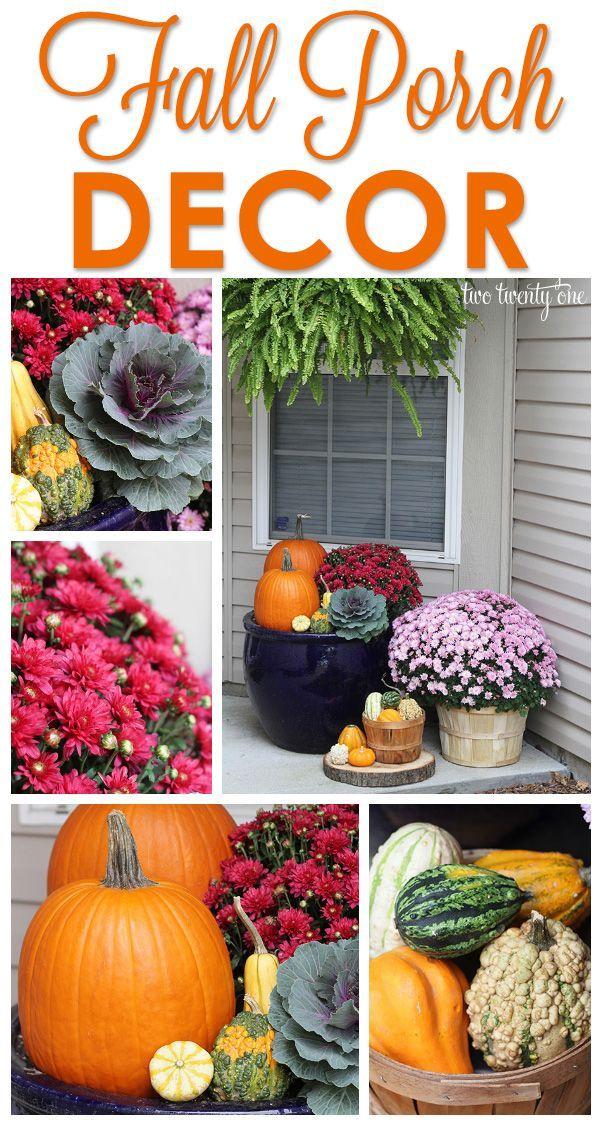 Beautiful fall front porch decor!