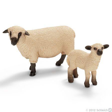 Animal Model Toy for KidsToy Plastic Wild Animal Big Shropshire Sheep Figure