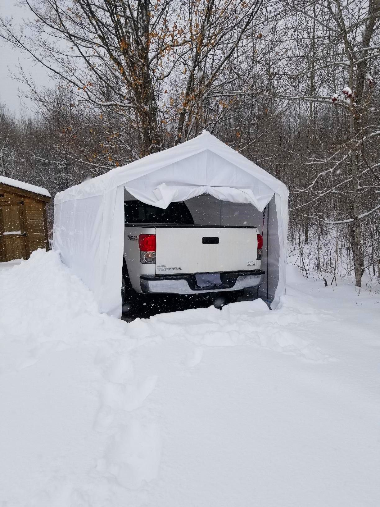 Heavy Duty Portable Carport For Snow Days In 2020 Portable Carport Car Shelter Carport Canopy