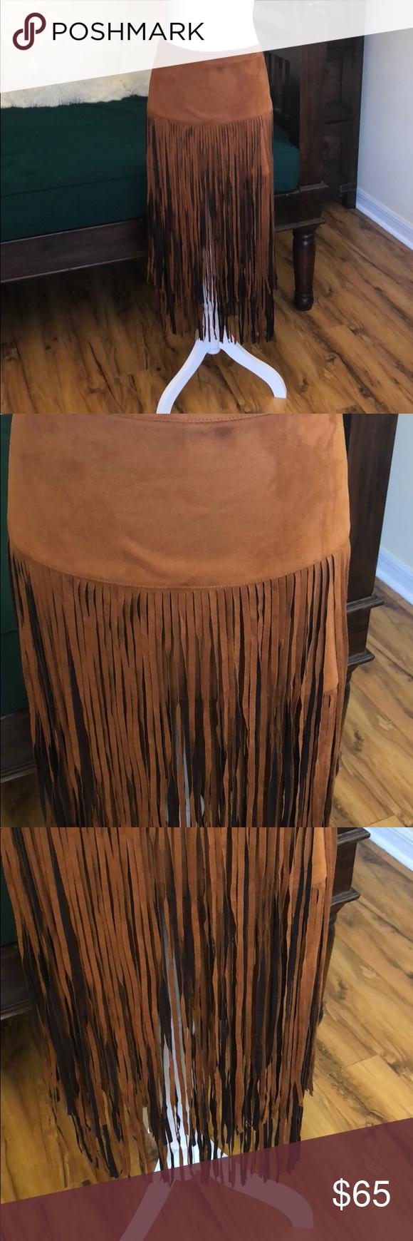 96045dd0f RAGA FRINGE FAUX SUEDE SKIRT RAGA FRINGE FAUX SUEDE SKIRT RAGA Skirts Maxi