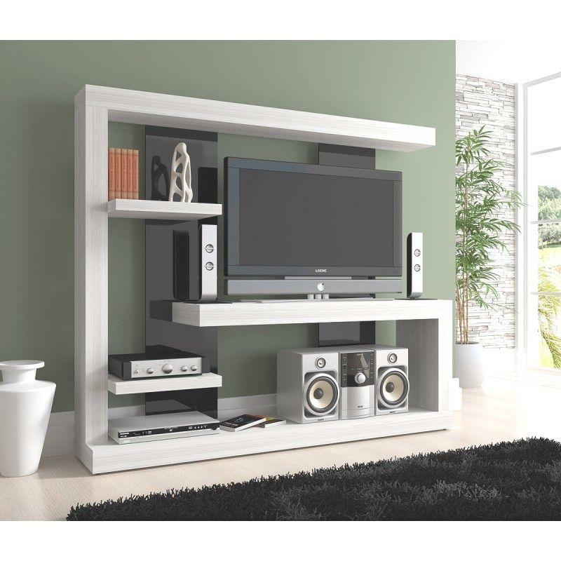 centro de entretenimiento television murale idee deco etageres murales meuble tele mobilier
