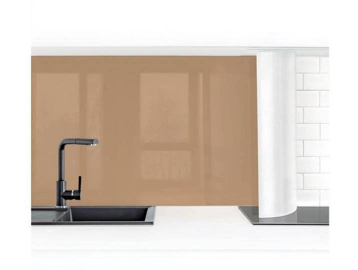 Photo of Bilderwelten kitchen back wall »Terracotta Taupe«, brown, 100x100cm, prem