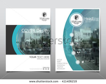 Blue curve technology annual report brochure flyer design template – Annual Report Brochure