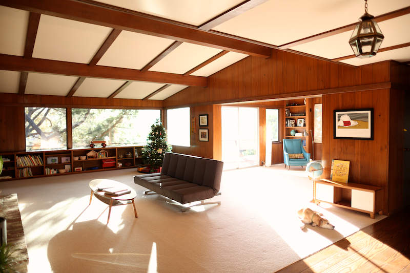 Mid Century Modern Before The Remodel Wood Panels And Carpet And Hardwood Floors And Pressboard Ceilings What To Change Lots To Thi Midcentury Modern House Design House
