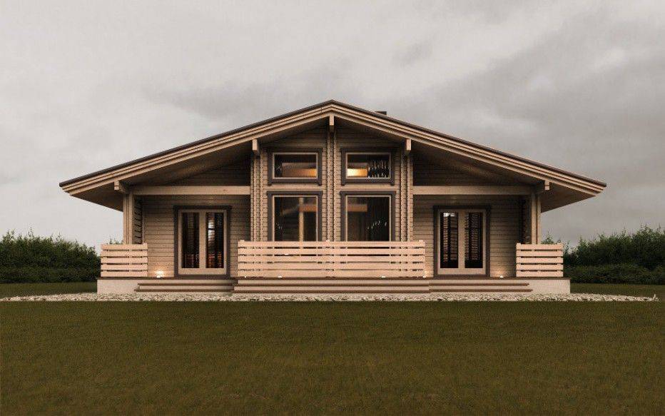 Дом в д. Мачулищи. 111 м2 двойной брус, деревянный дом ...