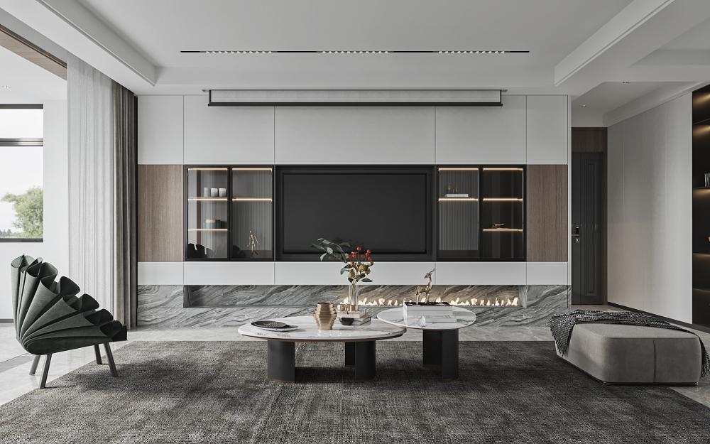 简约 中央公园 空间 室内设计 白鹿白鹿 原创作品 站酷 zcool tv room design living room tv wall home room design