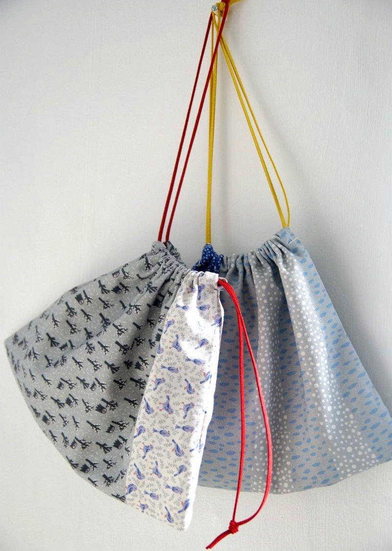 Cute diy drawstring bag tutorial drawstring bag
