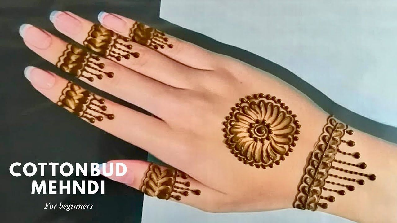 Eid Special Beginners Mehndi Design Step By Step With Cotton Bud Hana S Henna Alain Youtube Mehndi Designs Henna Tangan Henna