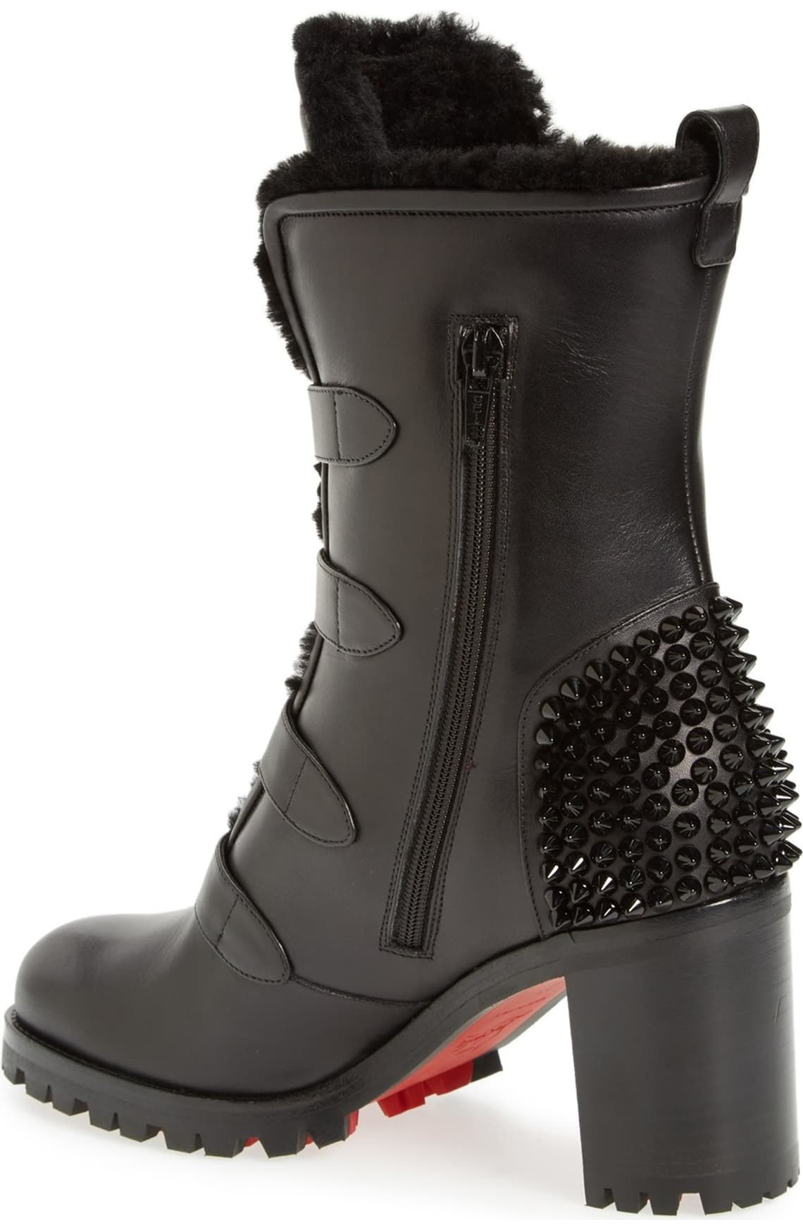 Christian louboutin boots, Buckle boots