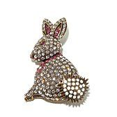 "Heidi Daus ""Hop To It"" Pavé Crystal Pin"