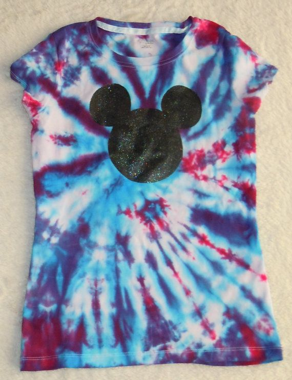 Custom Tie Dye Disney Shirt Mickey  Mouse by 5LilMonsters on Etsy, $17.00