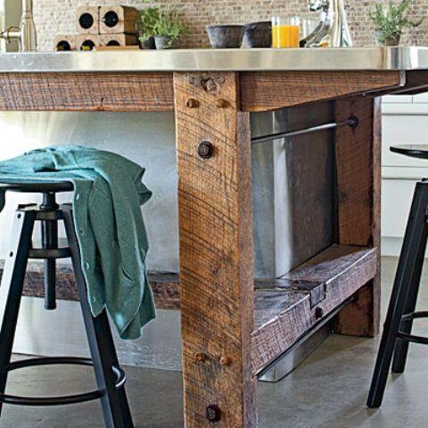Homemade kitchen island! House plans Pinterest Homemade
