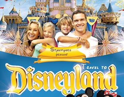 Travel To Disney Land Psd Flyer Template 5194 Psd Flyer Templates Flyer Template Flyer