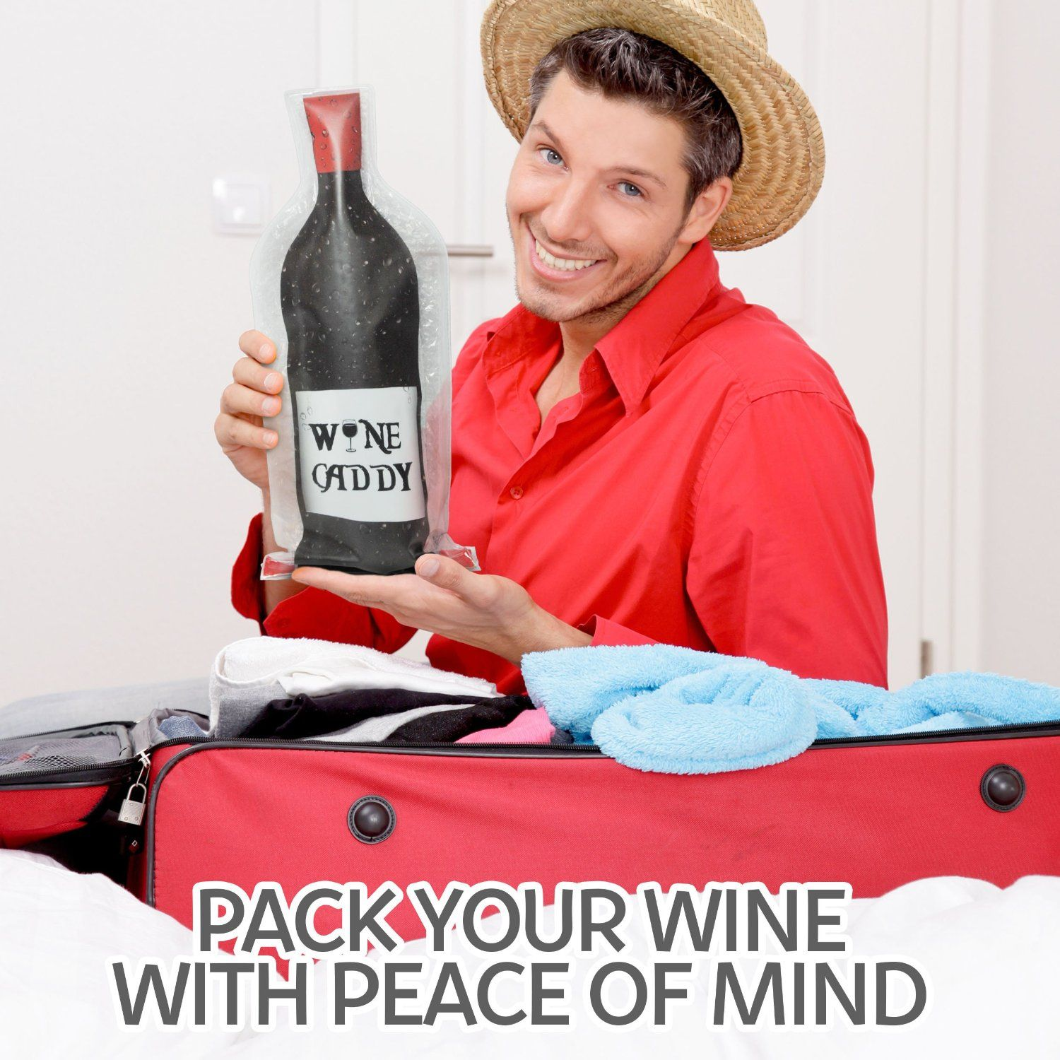 Wine Caddy Travel Wine Bottle Protector Now You Can