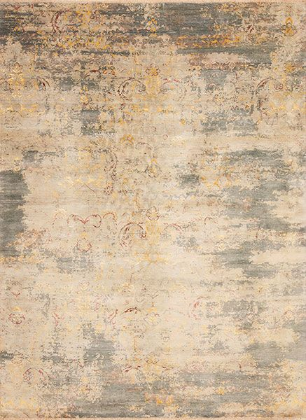 European Reserve Wool Silk Prado Samad Hand Made Carpets Patterned Carpet Background Patterns Gold Rug