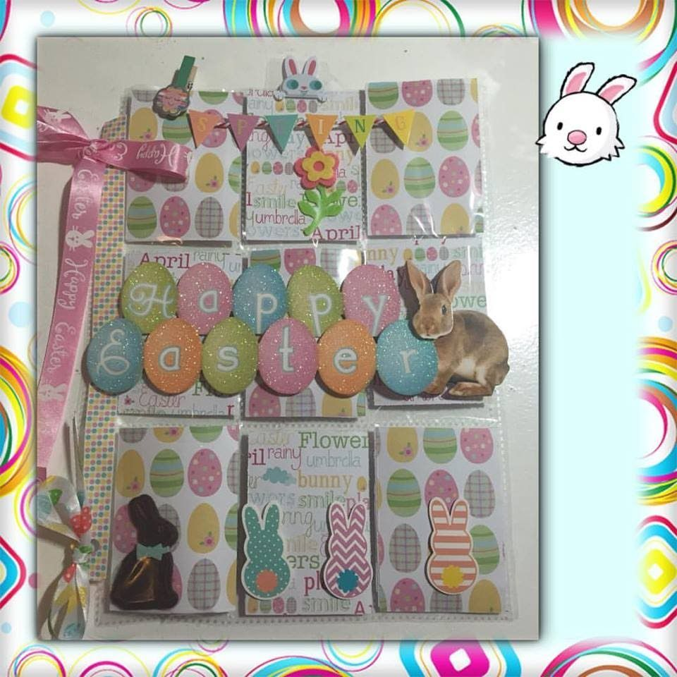 Scrapbook theme ideas - How To Create A Themed Pocket Letter Collaboration Easter Theme Pocket Scrapbookingscrapbooking Ideasletter