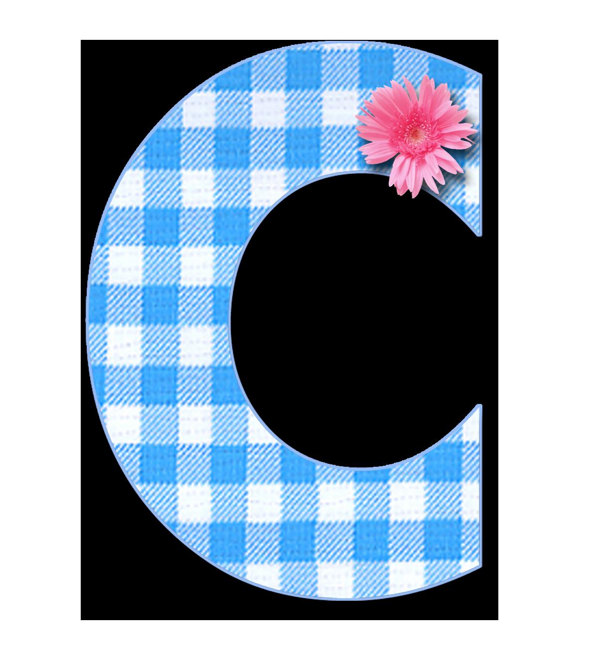 Blue Gingham C Png Png 1 200 1 321 Pixels Alphabet Scrapbook Letters Cute Alphabet