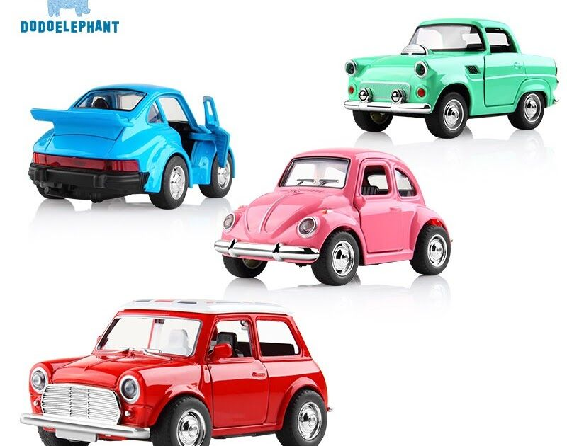 Alloy Car Toy Vehicles Acousto-optic Toy Mini Pull Back Car Metal Diecast Vehicle door open classic