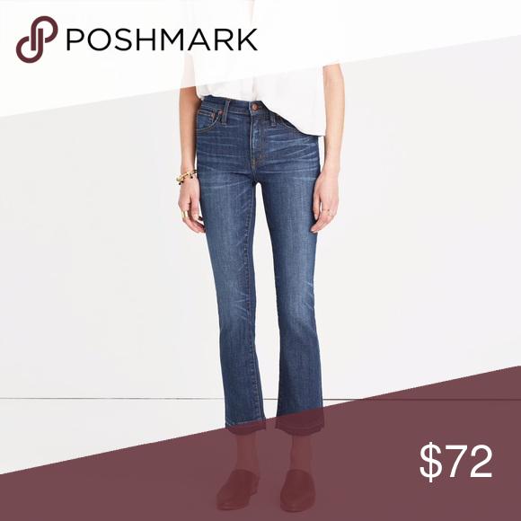 "a085f89ff532 Madewell Cali Demi Boot in Mitchell Wash Dark denim Cali Demi boot jeans.  9.5"""