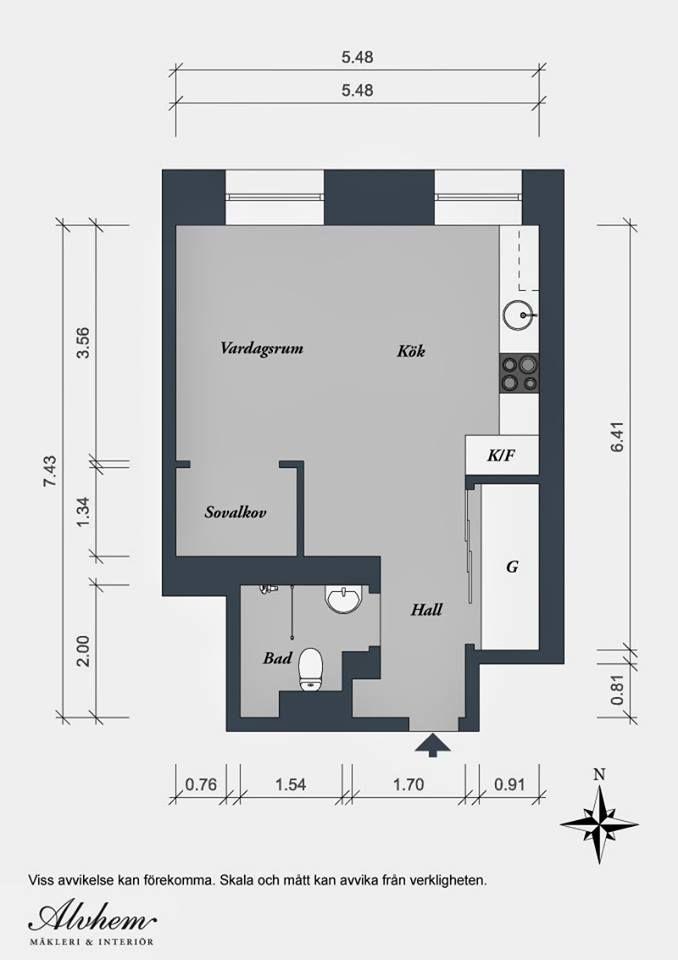 plan of 36 square meters swedish apartment apartments Pinterest - fresh 37 blueprint apartments