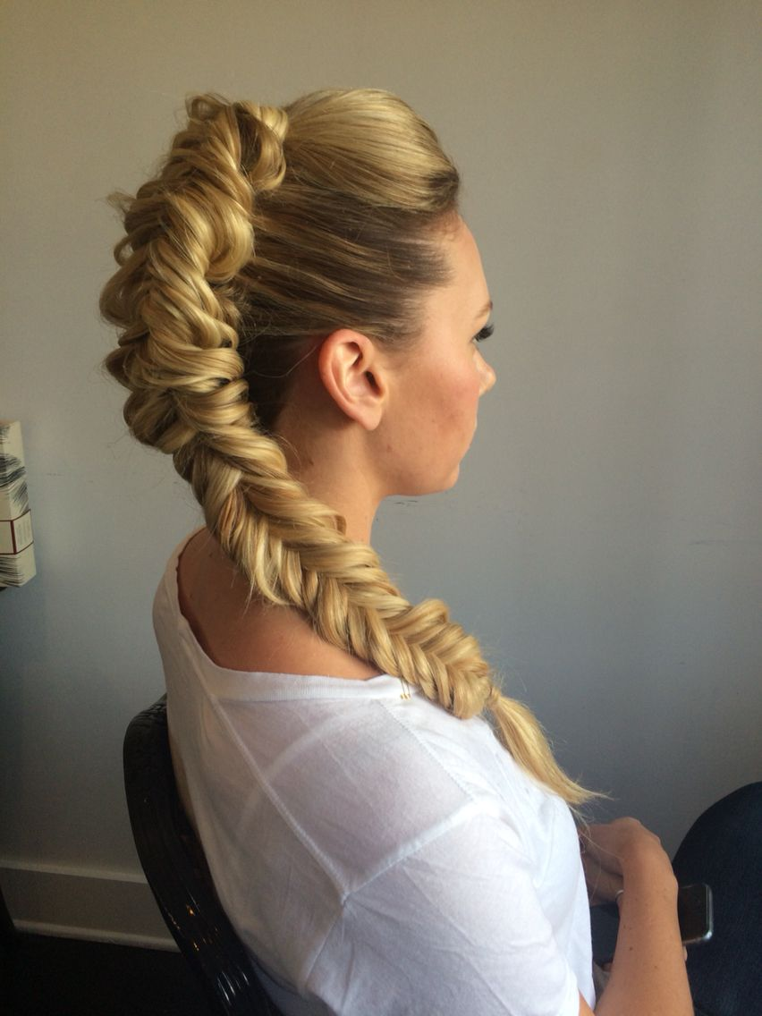 mohawk braid nail art and hairstyles