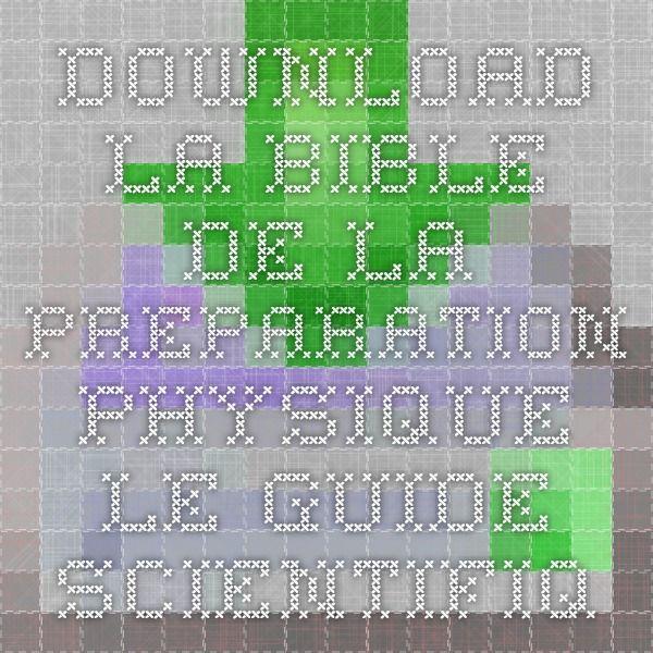 Download la bible de la preparation physique le guide scientifique download la bible de la preparation physique le guide scientifique et pratique pour tous ebook pdf fandeluxe Images