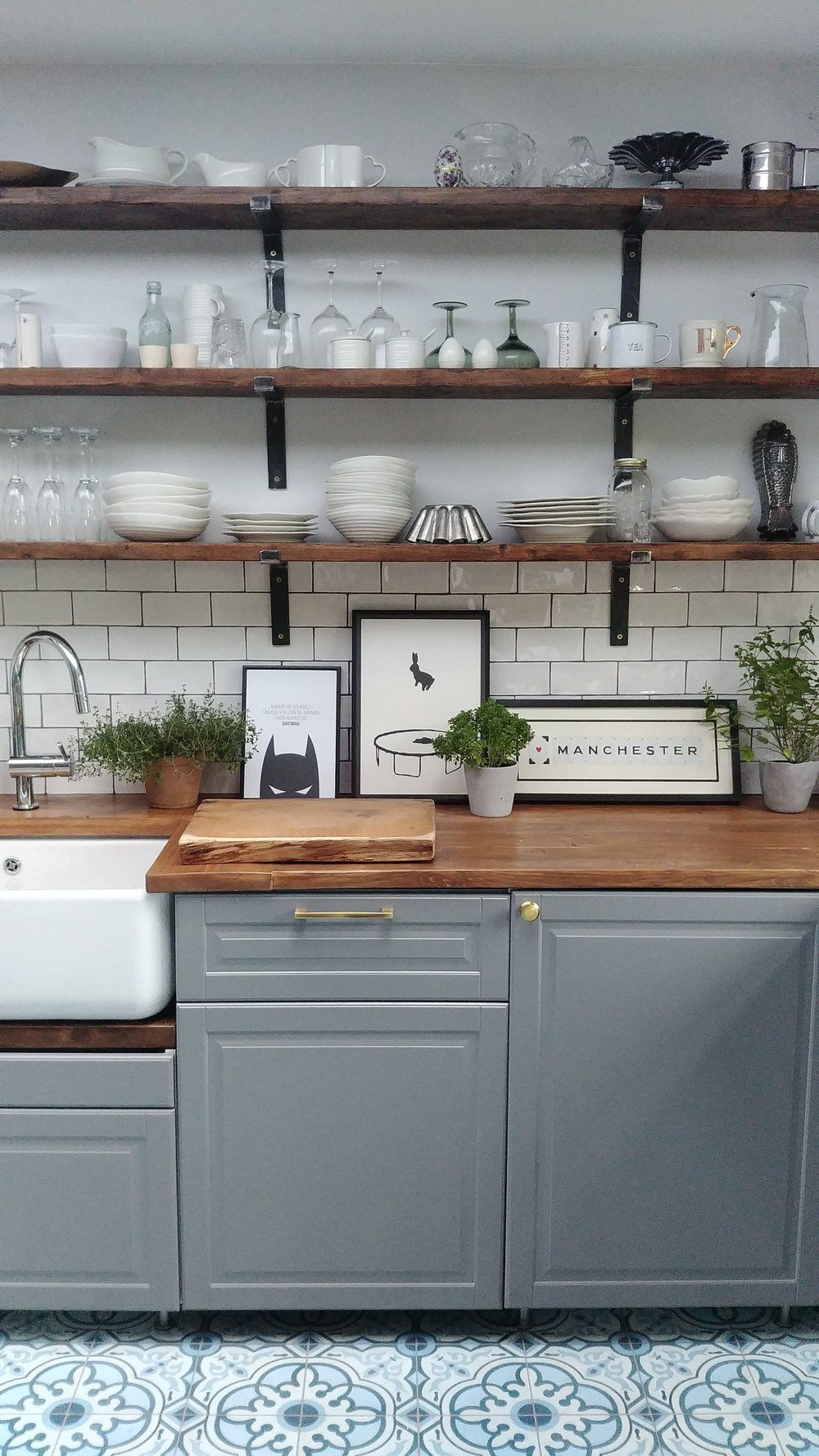 Extra Shelves For Ikea Kitchen Cabinets 2021 In 2020 Grey Kitchen Cupboards Ikea Bodbyn Kitchen Stained Kitchen Cabinets