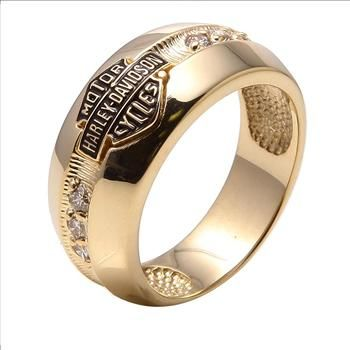 Harley Davidson 10kt Gold Ring Biker heaven Pinterest