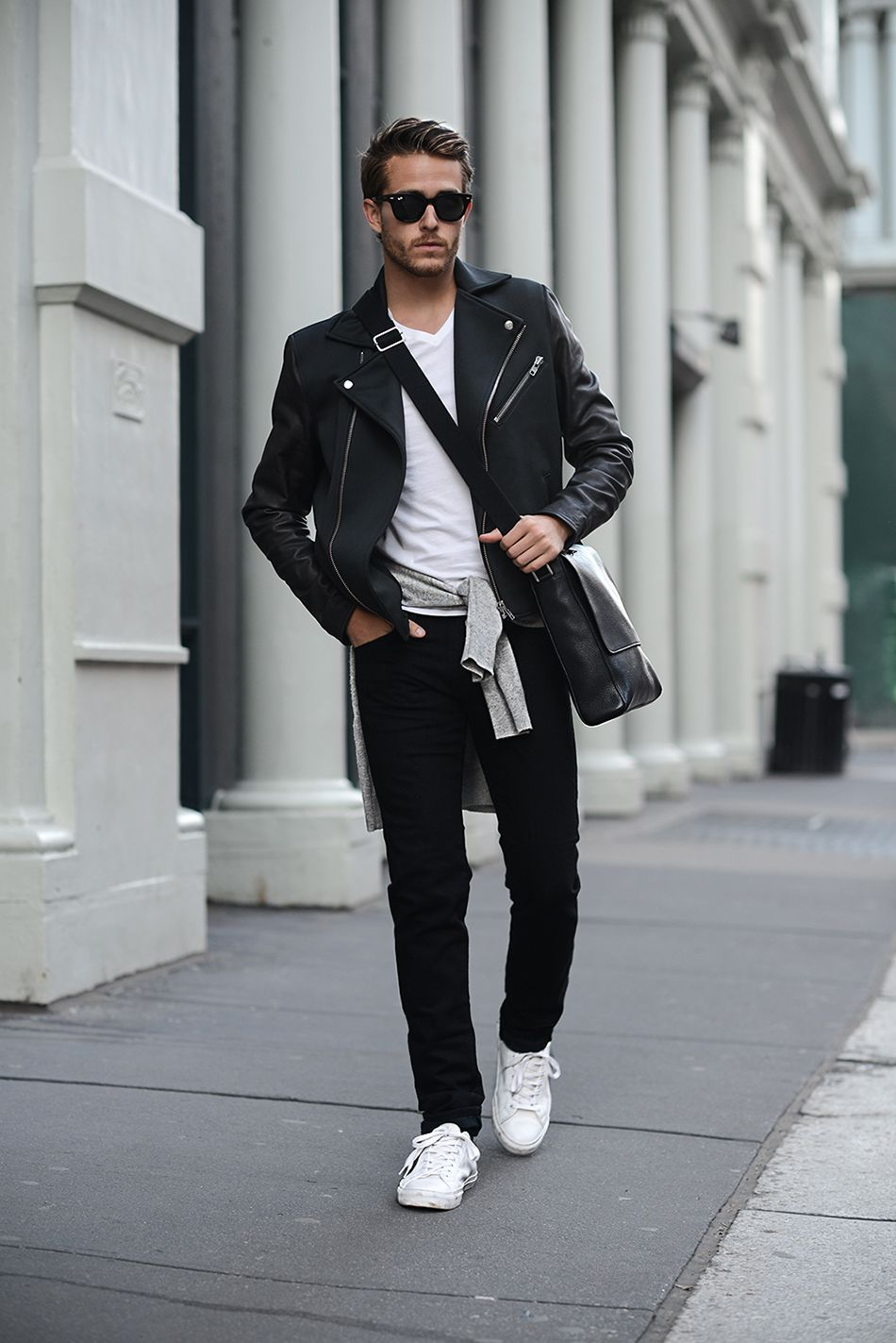 Mens leather gloves topman - Adam Gallagher Topman Leather Neoprene Jacket Club Monaco Cashmere Sweater Aldo Sneakers